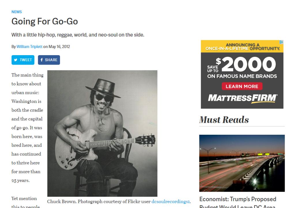 Going For Go-Go: Washingtonian