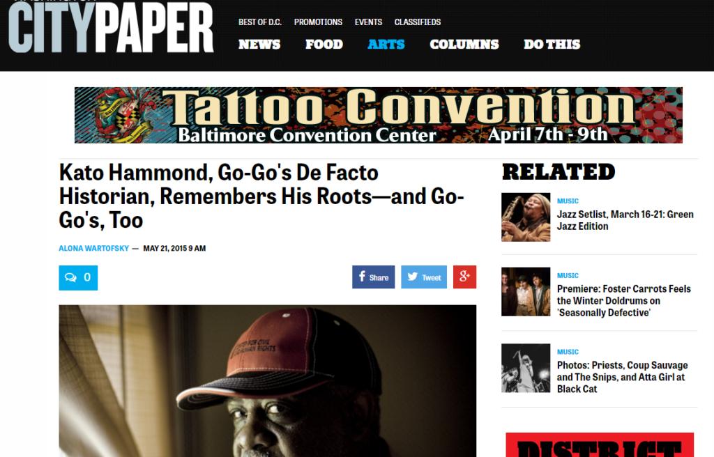 Go-Go's De Facto Historian, Remembers His Roots - Washington City Paper